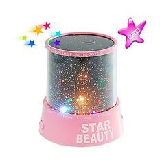 Starry Night Sky Projector Colorful LED Night Light (Random Color,Powered by 3 AA Battery) 2016 - $6.99