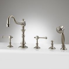 Vintage Roman Tub Faucet with Hand Shower - Satin Nickel