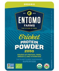 Cricket Powder Organic  This is USDA certified Organic cricket flour. Also known as cricket powder this is amazing edible insect or edible bug products. www.entomofarms.com