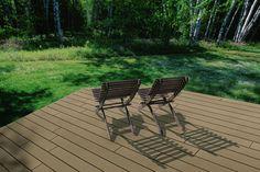 Natural Bamboo Composite Decking- Mvpfenceco.com