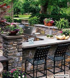 Inspiring Outdoor Kitchen Concepts - http://www.dedecoration.com/home-design-ideas/inspiring-outdoor-kitchen-concepts.html