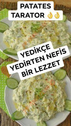 "YEDİKÇE YEDİRTECEK LEZZET : ""PATATES TARATOR"" - Hem #kolay, hem de az malzemeli, nefis bir #salata tarifi... #yemeknet #yemek #sağlık #zayıflama #meze #yilbasi #newyear #mezeler #patates #patatoes Crab Stuffed Avocado, Cottage Cheese Salad, Scones Ingredients, Vegan Blueberry, Blueberry Scones, Salad Dishes, Dinner Salads, Easy Salads, Gastronomia"