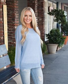 This lightweight top is the perfect transition piece from Winter into Spring, Summer and Fall! The fit and comfort on this top will make you want to wear it daily... no worries though we won't judge;)