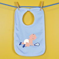 Baby Bib Lacrosse Baby Crawling - An adorable super soft cotton bib for your #1 Fan.