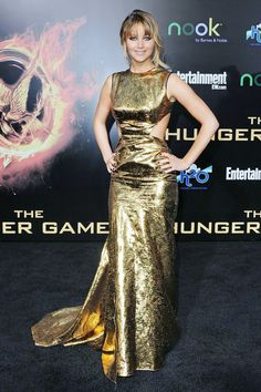"""Jennifer Lawrence at the premiere of """"The Hunger Games"""" in Los Angeles, 2012."""