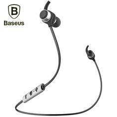 Baseus Bluetooth 4.1 Wireless Stereo Ear Hood Sports Earphone with Mic HiFi Music Sport Running Headset In-Ear Earbuds Headphone