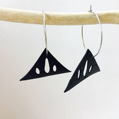 Vegan leather or recycled bicycle inner tube. Planet friendly earrings made from recycled materials. The hoops are hypoallergenic stainless steel. I love wearing a similar pair of earrings I made recently, which is why I decided to make some to make available to you. They are so
