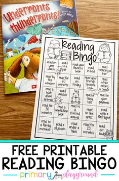 Free Printable Reading Bingo – Primary Playground A fun way to keep your little learners reading! Reading Bingo, First Grade Reading, Teaching Reading, Guided Reading, Reading Lessons, Reading School, Reading Projects, Reading Practice, Reading Art