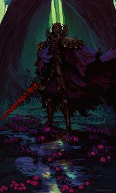 Skull Knight ( Berserk ) by AnatoFinnstark on DeviantArt Dark Fantasy Art, Fantasy Rpg, Dark Art, Arata Tokyo Ghoul, Manga Art, Anime Art, Badass Movie, Knight Art, Animation