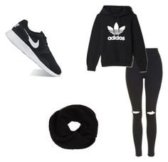 """Untitled #16"" by destinyxx8 on Polyvore featuring Topshop, adidas, DKNY and NIKE"