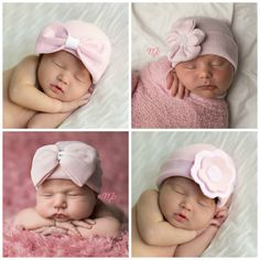 Cute cute hats for boys and girls! Must find out how to make the flower hat! Newborn Hospital Hats To Gush Over » Daily Mom