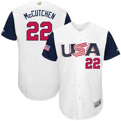 a009143cb Team USA  22 Andrew McCutchen White 2017 World Baseball Classic Authentic  Stitched MLB Jersey Buster