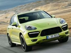 Lime green Porsche SUV