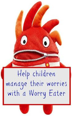 How to help children with anxiety. This is a lovely way to help kids manage worries and a really child friendly cuddly solution for  fretful children