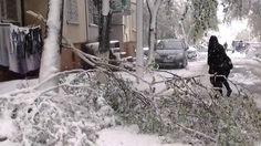 Снежный флеш-моб в Кишиневе. 20 апреля. Весна.