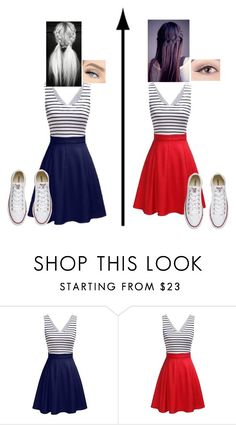 """""""Twin"""" by slytherin427 ❤ liked on Polyvore featuring Converse"""