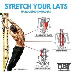 stretch your lats fix rounded shoulders - weighteasyloss.com