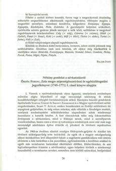 Néhány gondolat a névkutatásról Ördög Ferenc, Zala megye népességösszeírásai és egyházlátogatási jegyzőkönyvei (1745-1771) I. című könyve alapján Pdf, Personalized Items