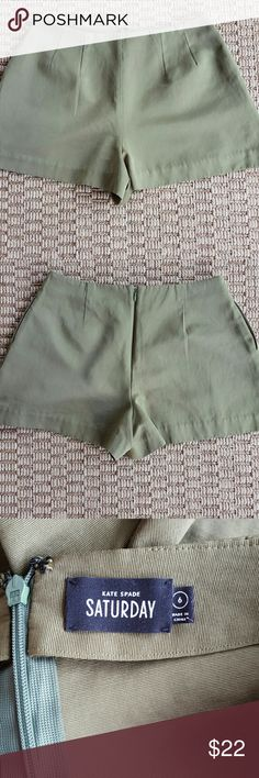 "Kate Spade Shorts Kate Spade Saturday shorts  2.5"" inseam  15"" waist  Olive green  Perfect condition kate spade Shorts"