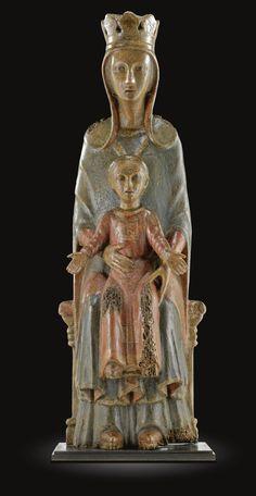 ITALIAN, UMBRIA, MID-13TH CENTURY  VIRGIN AND CHILD, OR MAESTÀ  Medieval period