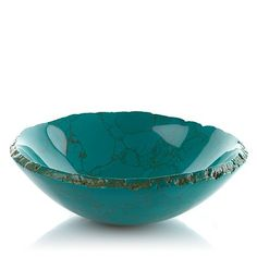 Jay King Sculpted Green Composite Bowl - Exquisite