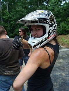Jolene Van Vugt. Only female member of Nitro Circus. I love this girl she can sure ride :-)