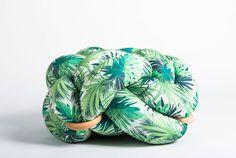 (M) Jungle pattern Knot Floor Cushion