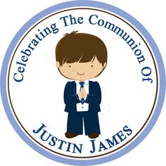 My First Communion Personalized Stickers  Party Favor by partyINK, $6.20