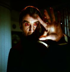 Christopher Lee as Dracula, Hammer Films' Dracula Has Risen from the Grave (1968).
