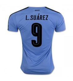 Uruguay 2016 Luis Suarez 9 Hemmatröja Kortärmad Neymar, Messi, Fc Barcelona, Sports, Fashion, Uruguay, Hs Sports, Moda, Fashion Styles