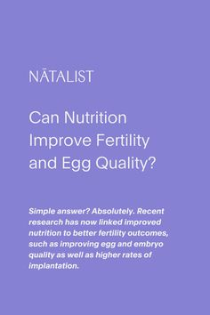 Simple answer? Absolutely. Recent research has now linked improved nutrition to better fertility outcomes, such as improving egg and embryo quality as well as higher rates of implantation. #prenatal #wellness #prenatal #nutrition #womenshealth #ttc #pregnancy #pregnant #vitamins #fertility #fertilitydiet #baby #nutrition #fertilityfoods #pregnant #pregnancytest #ovulationtest #diy #health #wellness #inspo #pregnancystyle #fitpregnancy #pregnancyworkout #ttc #ivf #infertility #babyfever #mom