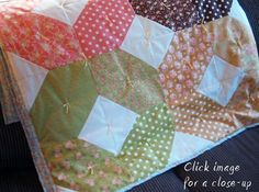 How to tie a quilt tutorial - variety of different ideas