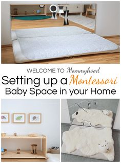 Montessori baby spaces: learn about how to set up a Montessori baby space on the blog! #montessorihome #montessoribaby #montessori