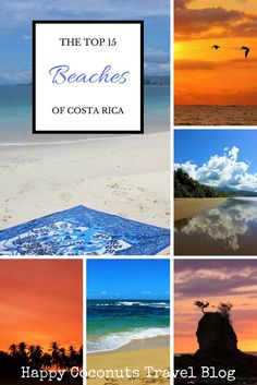 Best beaches to visit when you travel to Costa Rica, starting with Playa Conchal.