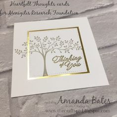 Hopeful Thoughts sympathy cards for Cards for Causes (Meningitis Research Foundation) by Amanda Bates at The Craft Spa. Stampin Up Demonstrator, Blogger & Online Shop.