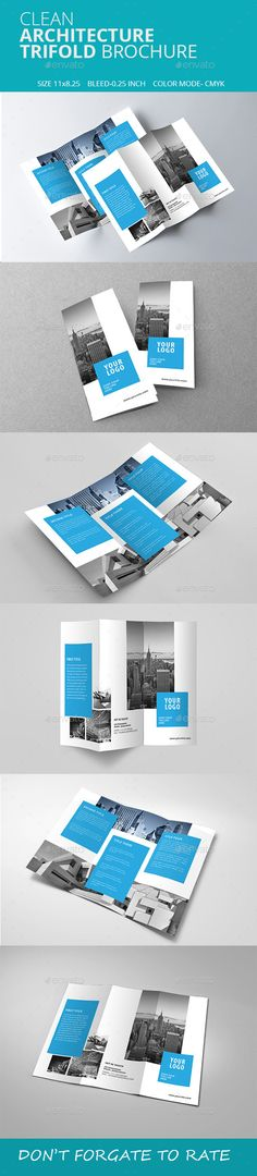 Clean Architecture Trifold Brochure Template #brochure #trifold Download: http://graphicriver.net/item/clean-architecture-trifold-brochure-/11330498?ref=ksioks
