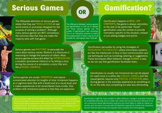 A great infographic to explain the difference between gamification and games