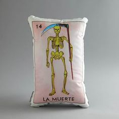 La Muerte Pillow, $49, now featured on Fab.