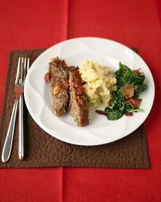 Italian-Style Meatloaf and Baked Mashed Potatoes