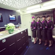 Etihad Airways. After five hours in-flight our cabin crew are loving wearing the new uniform.
