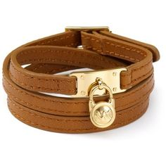 Michael Kors MK Leather Wrap Bracelet