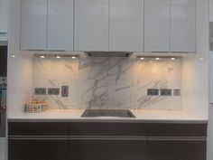 Marble Splash Back With Ikea Kitchen Units Mixed With Kube Kitchen Timber Drawers With Recessed Hand Ikea Kitchen Units Kitchen Extractor Kitchen Extractor Fan