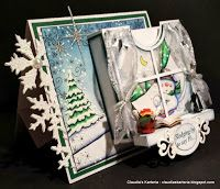 Claudia's Karteria: DT Cards und More Challenge - Baby, it's cold outside Its Cold Outside, Christmas Crafts, The Outsiders, Blog, Challenges, Winter, Cards, Boxes, Bricolage
