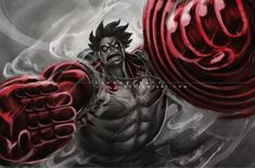 STREET FIGHTER V INCLUDE GEAR 4th LUFFY by vinrylgrave