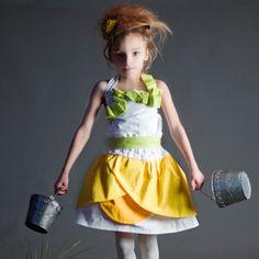girl's petal dress