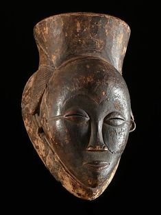 Black Mask of Justice Pounou Gabon Object n 2183 Art Afro, Black Mask, African Masks, Black Women Art, Headdress, Female Art, Charity, Auction, Skull
