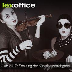 Interessant für alle, die Kreativdienstleistungen in Auftrag geben oder über die Künstlersozialkasse versichert sind: 2017 sinkt die Künstlersozialabgabe https://www.lexoffice.de/blog/kuenstlersozialabgabe-2017/