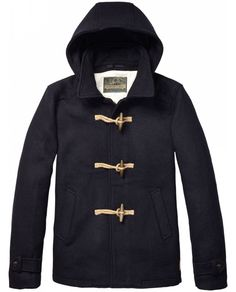 Classic Duffle Coat With Toggle Closure > Mens Clothing > Jackets at Scotch & Soda - Scotch & Soda Online Fashion & Apparel Shop
