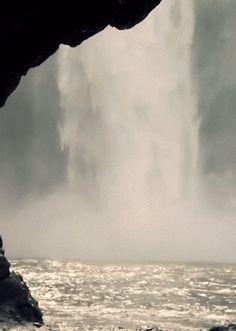 nature waterfall magical fairytale enchanting