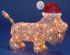Basset Hound Christmas Puppy